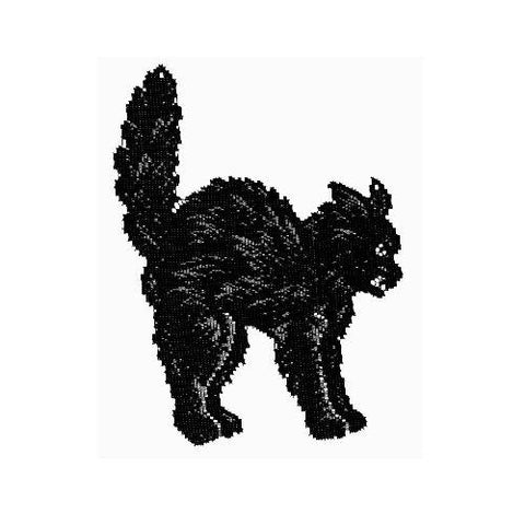 Heritage Lace Scaredy Cat 8-Inch by 11-Inch Accent, Black, Made in USA