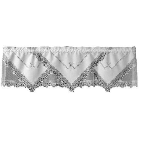 Heritage Lace Prelude Collection Valances, Tiers, Tabletop, Ecru and White Made in USA