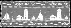 Heritage Lace Harbor Lights Collection - Shower Curtains, Runners,Table Toppers White Made in U.S.A