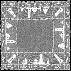 Heritage Lace Harbor Lights Collection - Shower Curtains, Runners,Table Toppers White Made in U.S.A - Olde Church Emporium