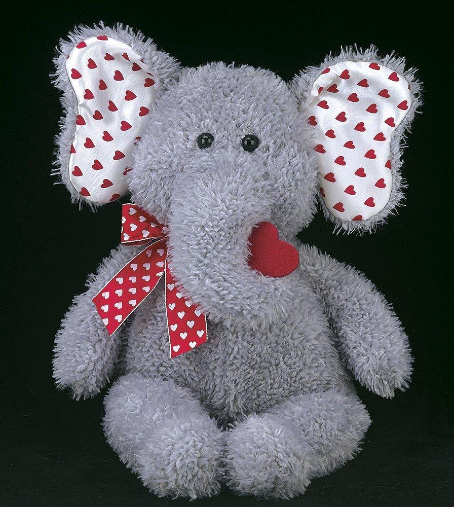 Bearington - Hugh Lovesyou Valentine Stuffed Animal Elephant 13 Inches - Olde Church Emporium