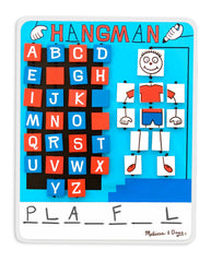 Melissa & Doug - Flip to Win Travel Hangman Game White Board, Dry-Erase Marker - Olde Church Emporium