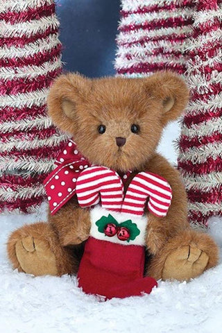 "Bearington - Christmas Holiday Bear ""Holden Candy"" - 14 Inches"