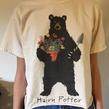 Hatley Hairy Potter T shirt 4 Sizes Small, Medium, Large, X Large Creme color Unisex