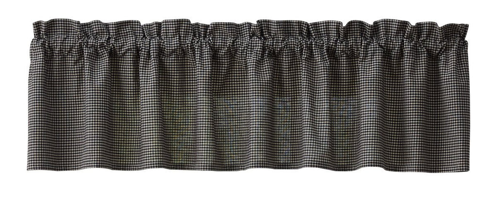 Park Designs Hen Pecked Unlined Valance - 72 x 14 Inches Black Check Country Farmhouse - Olde Church Emporium