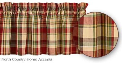 Park Designs Highland Ridge Collection - Valances, Tiers, Swags Farmhouse Country