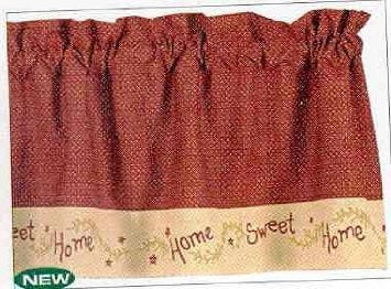 "Park Designs- Home Sweet Home Point Valance 29"" x 22"", Valances and Shower Curtain 72 x 72 Inches"