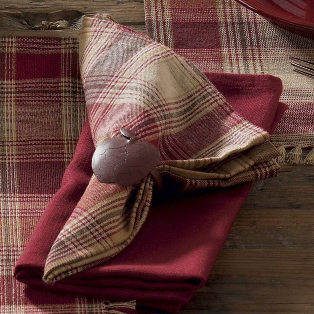 Park Designs Hearthside Plaid Napkin 18 square Cotton - Olde Church Emporium
