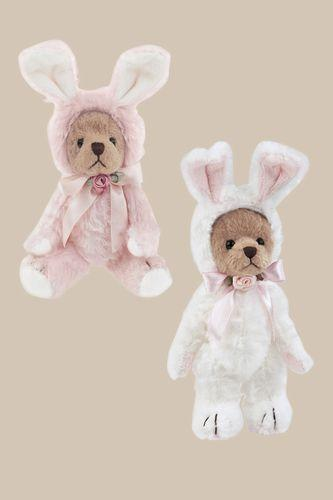 Bearington - Bunny Imposter Set 2 Bunnies Itty and Bitty 4.5 Inches and Retired - Olde Church Emporium