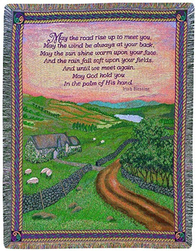Irish Collection 50 x 60-Inch Tapestry Throw, Blessings of Ireland Made in USA