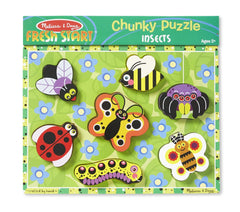 Melissa & Doug Insects Wooden Chunky Puzzle (7 pieces) - Olde Church Emporium