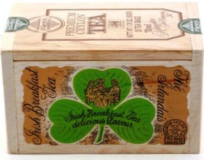 Irish Breakfast Tea bags - 25 in Wooden Box [Home Decor]- Olde Church Emporium