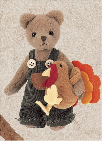 Bearington - Jimmy & Giblets Miniature Thanksgiving Plush Bear 4.5 Inches and Retired