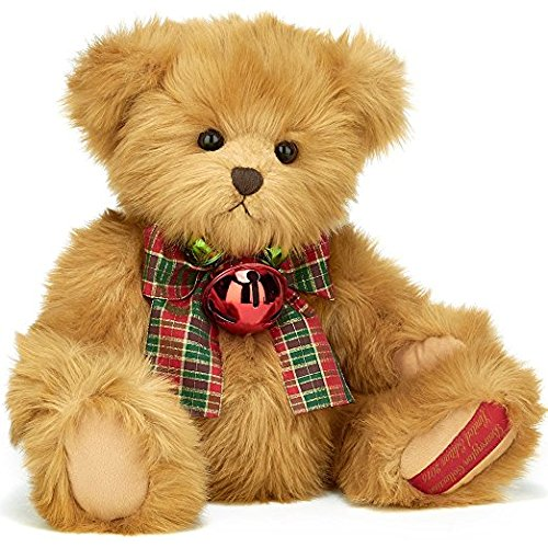 "Bearington -  Limited Edition Musical Christmas Bear ""Mr. Bear Jangles""  - 20 Inches and Retired - Olde Church Emporium"