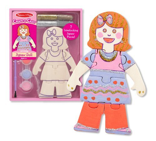 Melissa and Doug - Create-A-Craft Wooden Jigsaw Doll Kit [Home Decor]- Olde Church Emporium