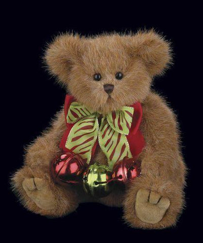 Bearington - Jingle and Bells Christmas Holiday Plush Teddy Bear 10 Inches and Retired