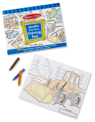 Melissa & Doug - Jumbo 50-Page Kids' Coloring Pad - Space, Sharks, Sports, and More [Home Decor]- Olde Church Emporium