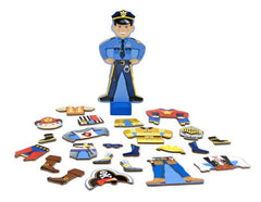 Melissa & Doug - Joey Wooden Magnetic Dress-Up Set - Olde Church Emporium