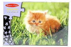 Melissa & Doug Orange Kitten 30 Piece Cardboard Jigsaw Puzzle Ages 3+ - Olde Church Emporium