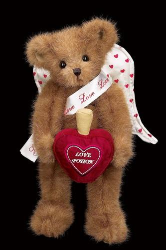 Bearington - Landen Lovespell Plush Valentines Bear 13 Inches and Retired - Olde Church Emporium