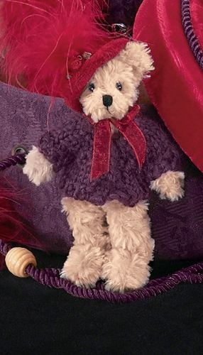 Bearington - Lady Scarlet Miniature Red Hat Christmas Bear 4.5 Inches and Retired - Olde Church Emporium