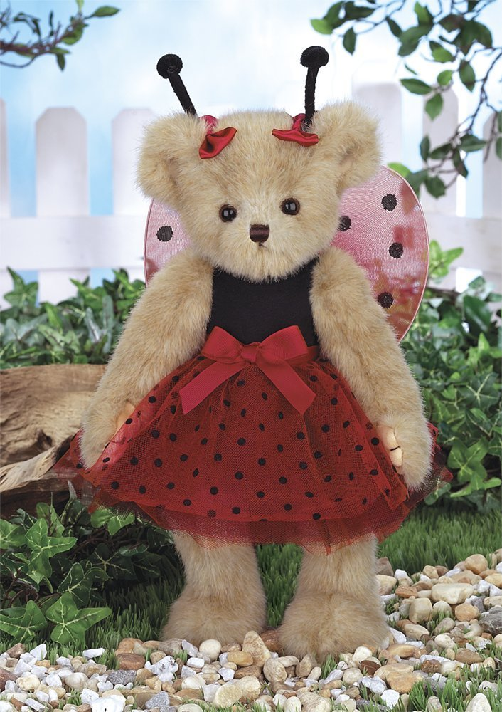 Bearington - Laura B. Lucky Teddy Bear Stuffed Animal Toy for Valentines 14 Inches - Olde Church Emporium