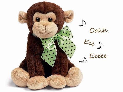 Bearington - Giggles the Monkey Musical Bank- 10 Inches