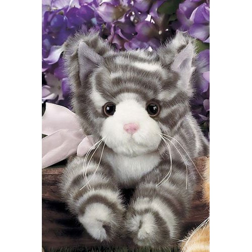 Bearington - Lil' Paws Plush Gray Tabby Kitten 8 Inches and Retired - Olde Church Emporium