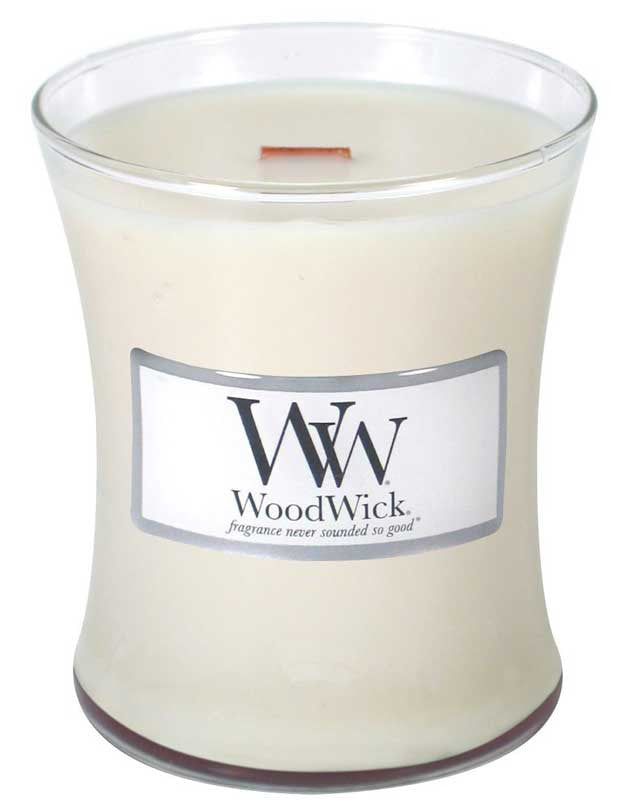 WoodWick Candle -Linen - 2 sizes - Olde Church Emporium