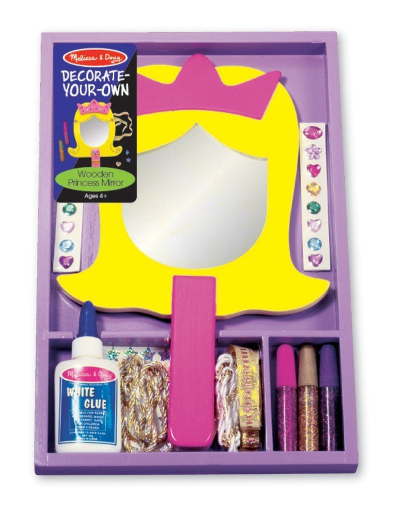 Melissa & Doug - Wooden Princess Mirror Decorate Your Own (DYO) Large Mirror [Home Decor]- Olde Church Emporium