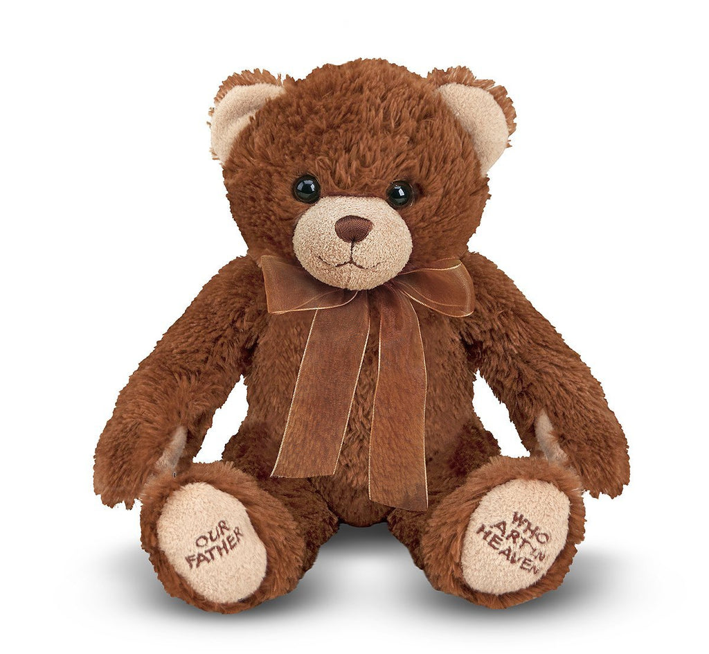 Melissa & Doug -  Lord's Prayer Bear  Stuffed Animal With Sound Effects [Home Decor]- Olde Church Emporium