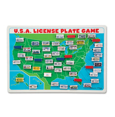 Melissa & Doug - Flip to Win Travel License Plate Game Wooden U.S. Map Game Board - Olde Church Emporium