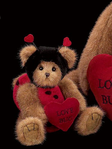 Bearington - Love Bug Plush Bear Valentines Gift - 10 Inches and Retired 2 Sizes Available