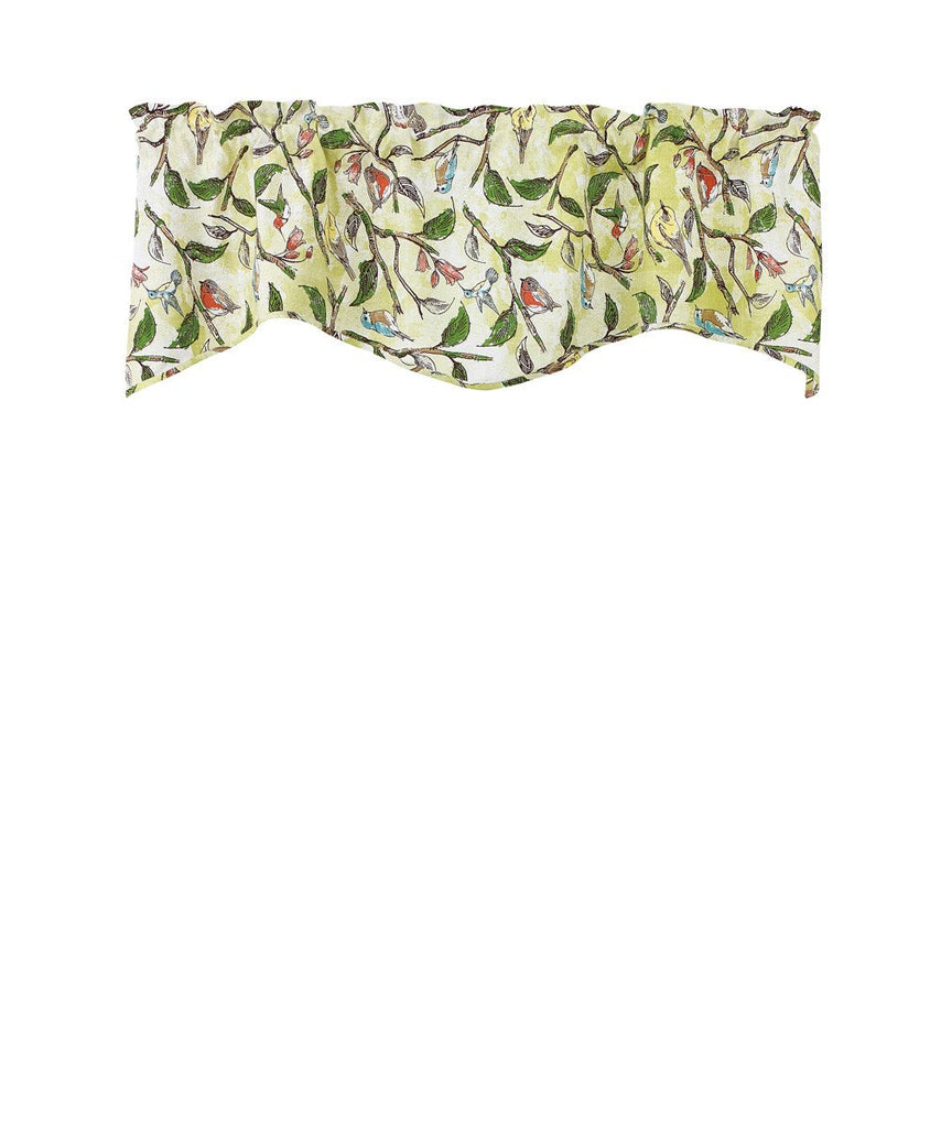 Park Designs Bird Song Lined Wave Valance 58 x 18 Inches - Olde Church Emporium