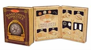 Melissa and Doug - Magician's Apprentice Coin Tricks Unrolled 16 Professional Coin Tricks Ages 8+ [Home Decor]- Olde Church Emporium