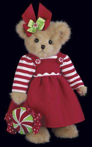 Bearington - Mandy & Candy Christmas Holiday Plush Teddy Bear 14 Inches and Retired - Olde Church Emporium