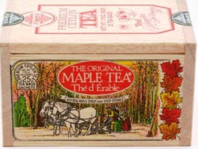 Maple Tea bags - 25 in Wooden Box [Home Decor]- Olde Church Emporium