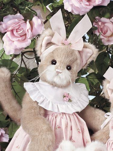 "Bearington - Easter Spring Plush Bunny Bear ""Miss Behave"" - 14 Inches Collectible Retired - Olde Church Emporium"