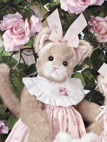 "Bearington - Easter Spring Plush Bunny Bear ""Miss Behave"" - 14 Inches Collectible Retired"