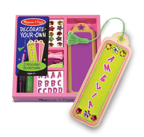 Melissa and Doug Wooden Decorate your Own(DYO) Bookmarks Ages 4+