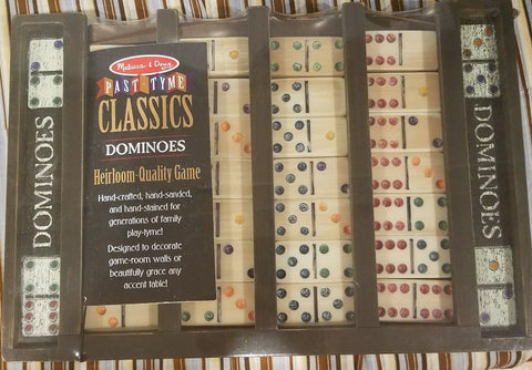 Melissa & Doug Dominoes Past tyme Classic Heirloom quality Game