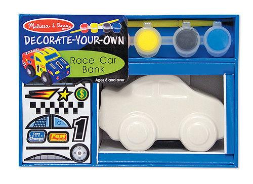 Melissa & Doug Decorate-Your-Own Race Car Bank #3332 New in Box