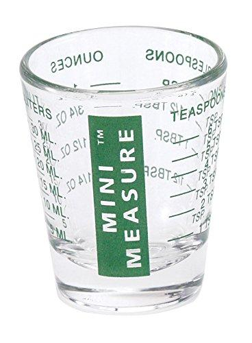 Kolder 13211GRN Mini Measure Heavy Glass, 20-Incremental Measurements Multi-Purpose Liquid and Dry Measuring Shot Glass, Green New - Olde Church Emporium