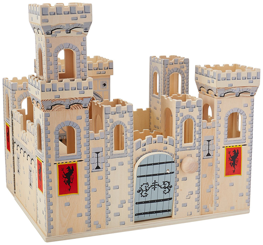 Melissa & Doug Deluxe Folding Medieval Wooden Castle - Hinged for Compact Storage - Olde Church Emporium