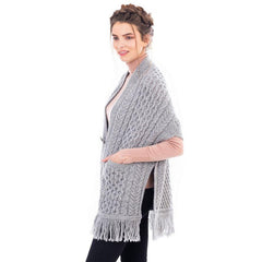 Merino Wool Ladies Pocket Shawl 4 Colors Made in Ireland - Olde Church Emporium