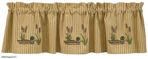 Park Designs Applique Mallard Lined Valance 60 inches x 14 inches