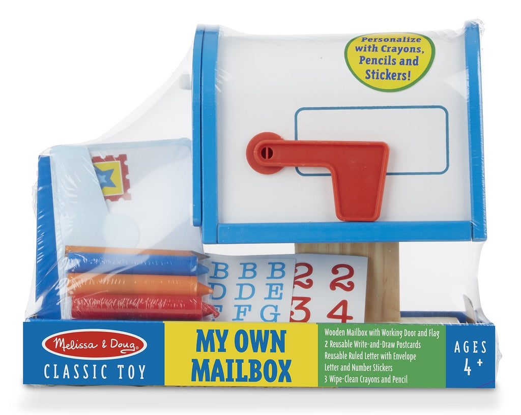 Melissa & Doug - My Own Wooden Mailbox Activity Set and Educational Toy [Home Decor]- Olde Church Emporium