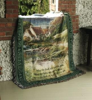 After the Rain Irish Tapestry Throw 51 x 68 inches  Made in USA - Olde Church Emporium