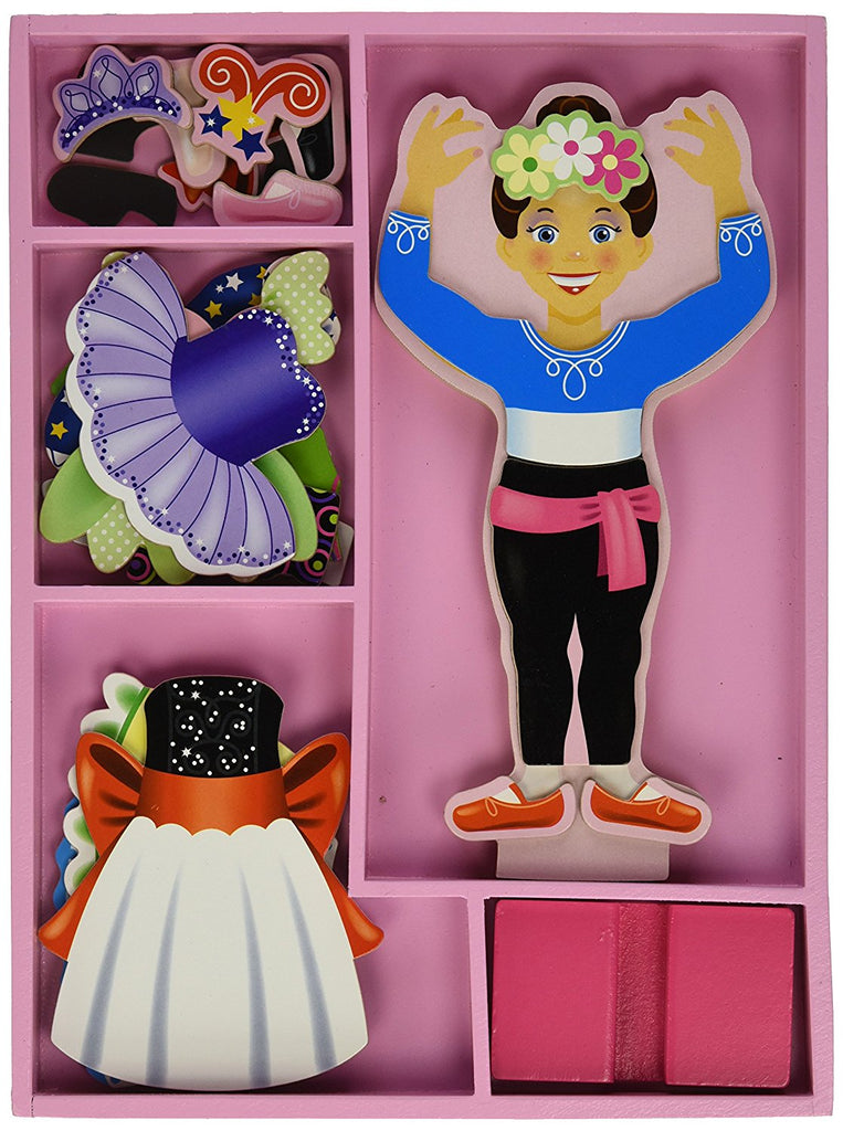 Melissa and Doug - Nina Ballerina Magnetic Dress-Up Set [Home Decor]- Olde Church Emporium