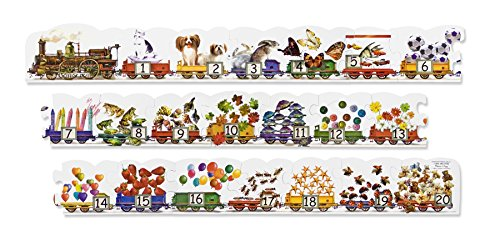 Melissa & Doug Number Train Jumbo Jigsaw Floor Puzzle (21 pcs, 9 feet long) - Olde Church Emporium